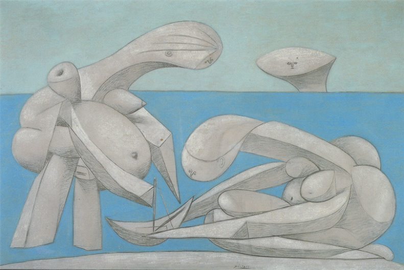picasso - on the beach