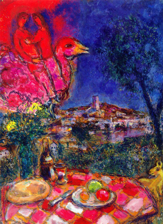 Chagall_laid-table-with-view-of-saint-paul-de-vance-1968