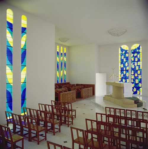 General View of the Interior of the Chapel of the Rosary at Vence, 1948-51 (mixed media)