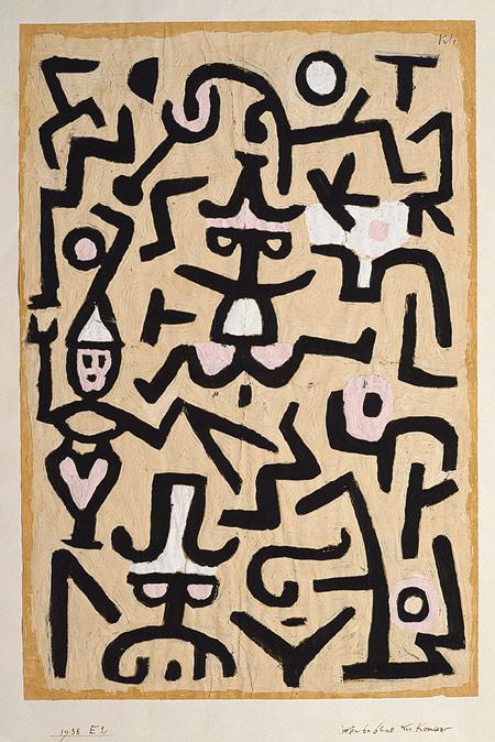 Paul Klee Comedians' Handbill, 1938