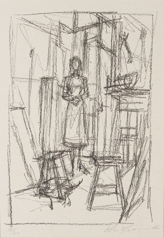 alberto-giacometti-annette-in-the-studio-1954