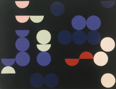 Sophie Taeuber-Arp-Composition with Circles and Semi-Circles-1935