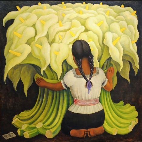 The Flower vendor_Girl with Lilies_Diego Rivera